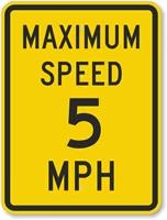 Maximum speed 5 MPH
